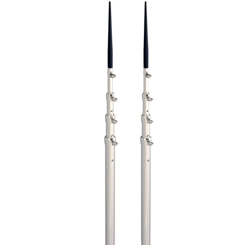 Lee's 16.5' Bright Silver Black Spike Telescopic Poles f-Sidewinder [TX3916SL-SL]
