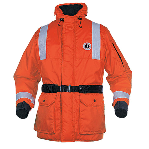 Mustang ThermoSystem Plus Coat - MED - Orange-Black [MC1534GS-M-OR]