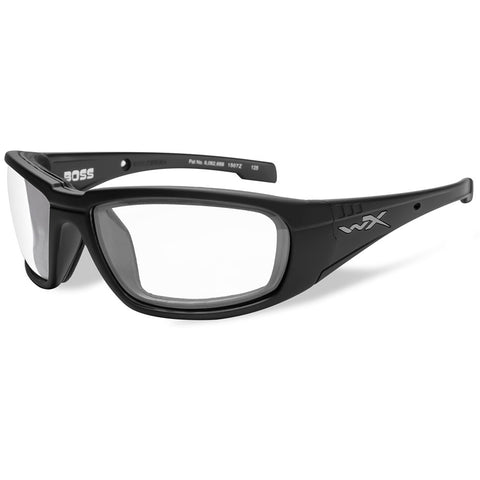 Wiley X Boss Sunglasses - Clear Lens - Matte Black Frame [CCBOS03]