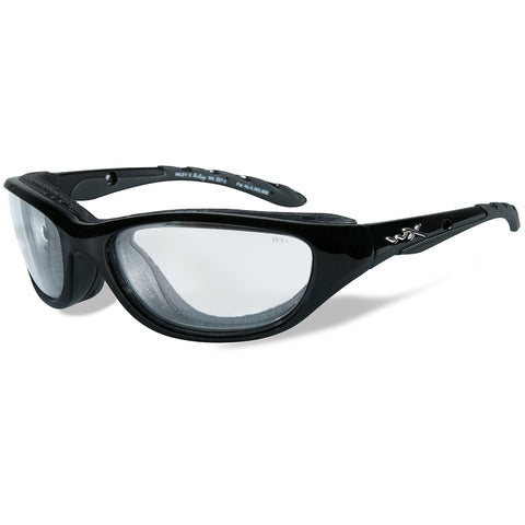 Wiley X Airrage Sunglasses - Clear Lens - Gloss Black Frame [693]