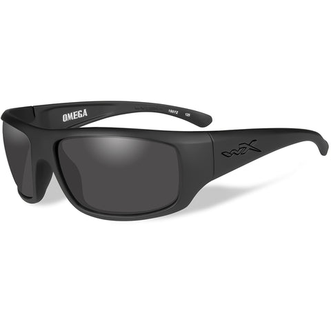 Wiley X Omega Sunglasses - Smoke Grey Lens - Matte Black Frame [ACOME01]