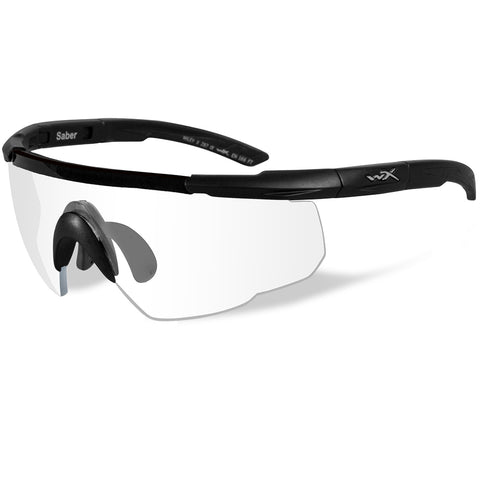 Wiley X Saber Advanced Sunglasses - Clear Lens - Matte Black Frame [303]