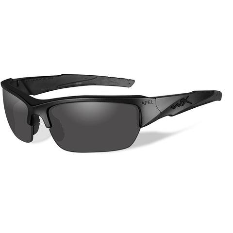 Wiley X Valor Black Ops Sunglasses - Smoke Grey Lens - Matte Black Frame [CHVAL01]
