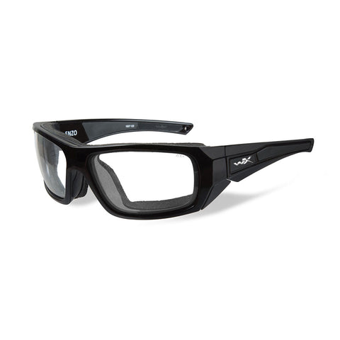 Wiley X Enzo Sunglasses - Clear Lens - Gloss Black Frame [CCENZ03]