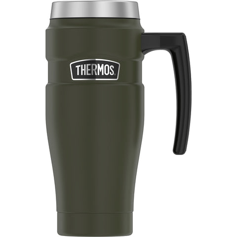 Thermos 16oz Stainless Steel Travel Mug - Matte Army Green - 7 Hours Hot-18 Hours Cold [SK1000AG4]