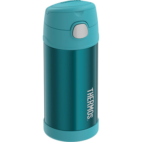 Thermos FUNtainer Stainless Steel Insulated Teal Water Bottle w-Straw - 12oz [F7019TL6]