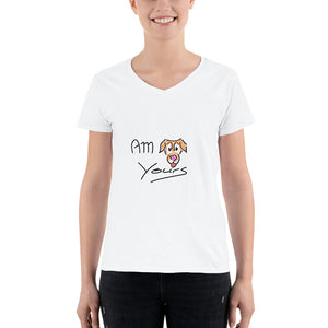 """AM Yours"" Women's Casual V-Neck Shirt"