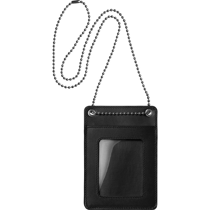 Supreme Leather ID Holder + Wallet (Black)