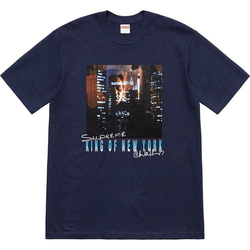 Supreme  Christopher Walken King Of New York Tee (Navy)
