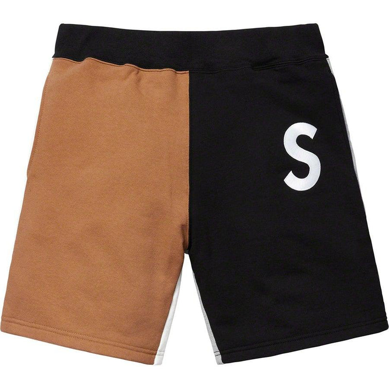 Supreme S Logo Colorblocked Sweatshort (Black)