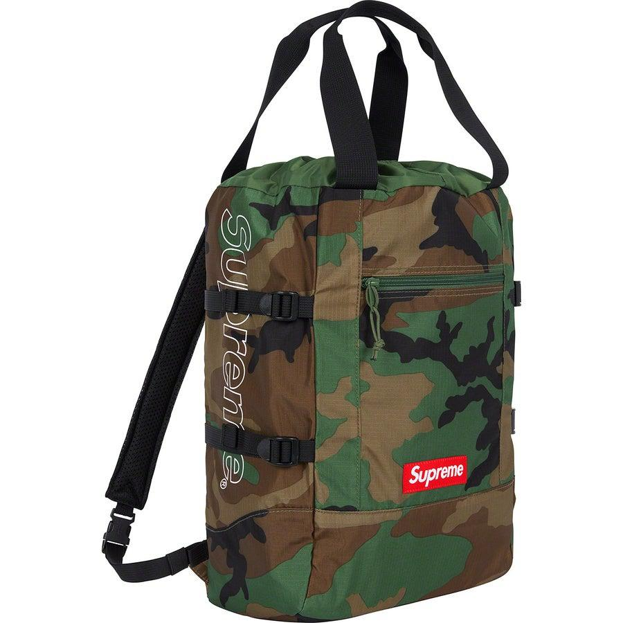 Supreme Tote Backpack (Camo) | Waves Never Die | Waves Never Die