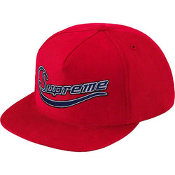 Supreme Metallic Logo Corduroy 5-Panel (Red)