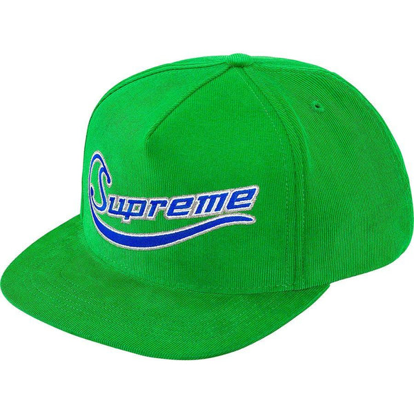Supreme Metallic Logo Corduroy 5-Panel (Green)