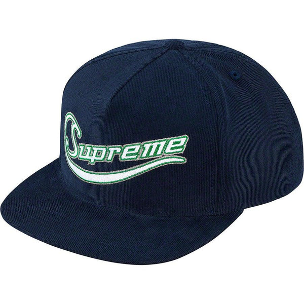 Supreme Metallic Logo Corduroy 5-Panel (Navy)