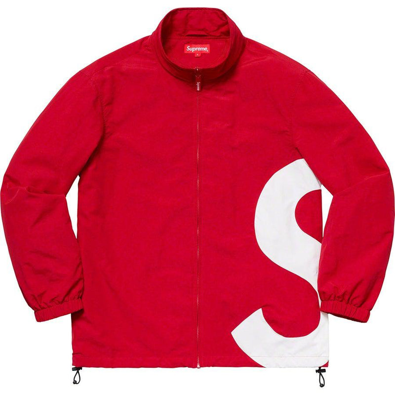 Supreme S Logo Track Jacket (Red) | Waves Never Die | Waves Never Die