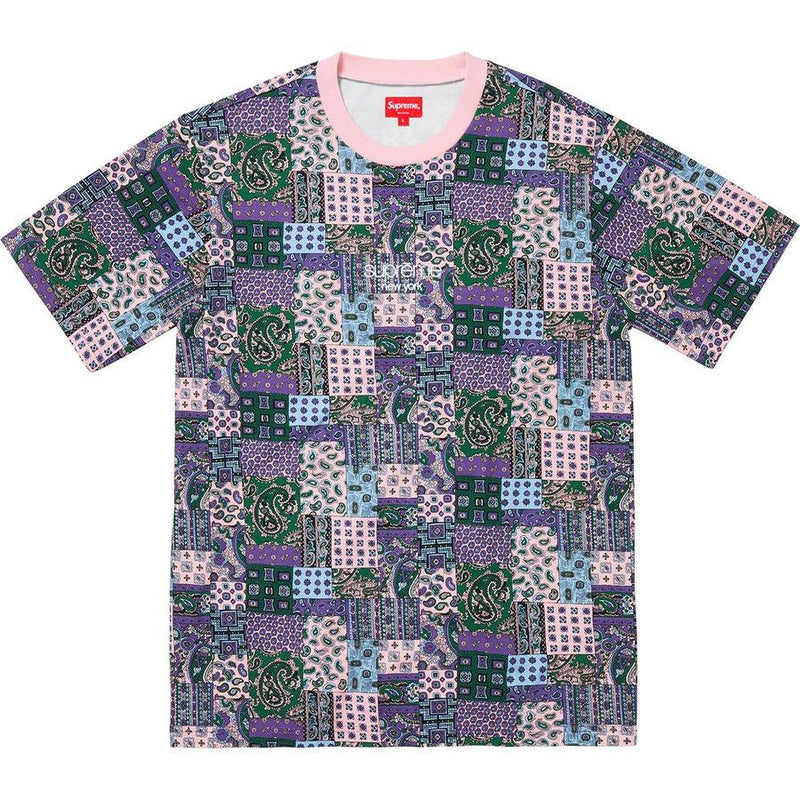 Supreme Patchwork Paisley S/S Top (Pink)
