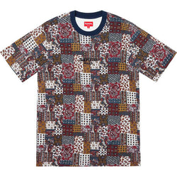 Supreme Patchwork Paisley S/S Top (Dark Red)