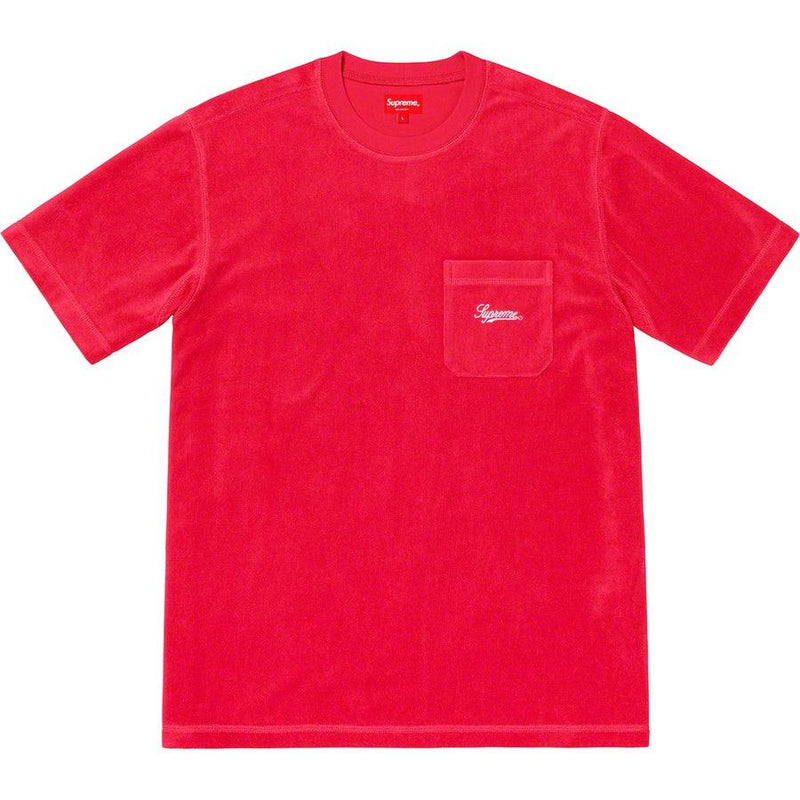 Supreme Terry Pocket Tee (Red) | Waves Never Die | Waves Never Die