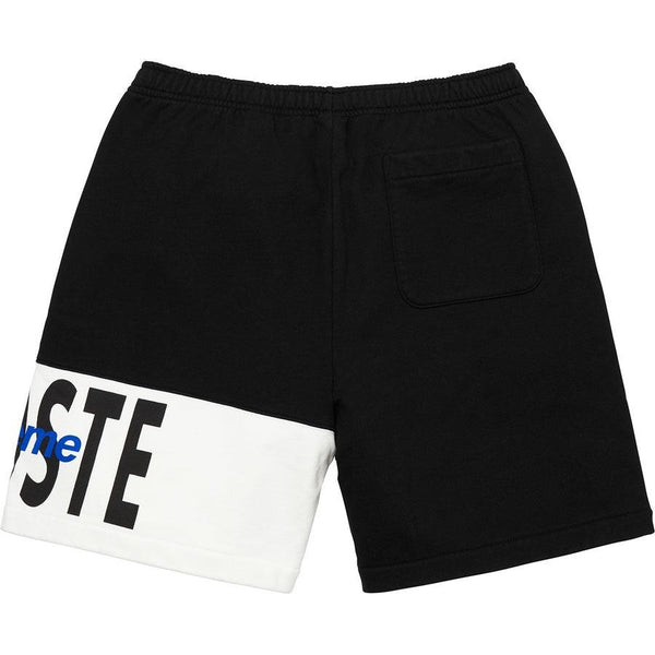 Supreme®/ LACOSTE Logo Panel Sweatshort (Black)