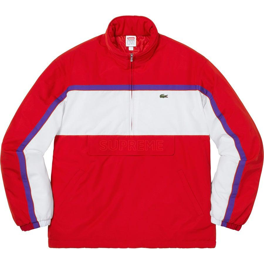 Supreme®/ LACOSTE Puffy Half Zip Pullover (Red) | Waves Never Die | Waves Never Die