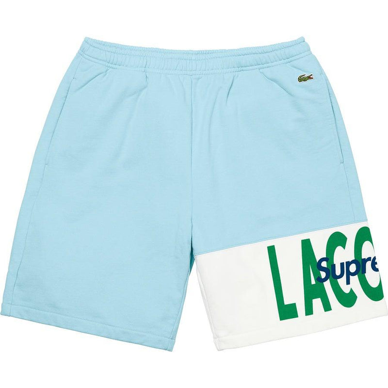 Supreme®/ LACOSTE Logo Panel Sweatshort (Light Blue)