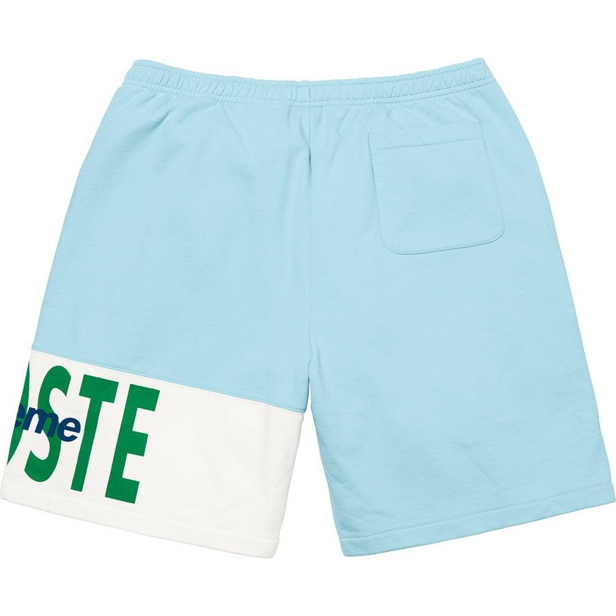 Supreme®/ LACOSTE Logo Panel Sweatshort (Light Blue) | Waves Never Die | Waves Never Die