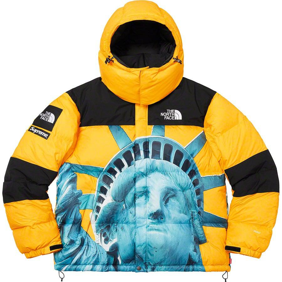 Supreme®/ The North Face® Statue of Liberty Baltoro Jacket (Yellow) | Waves Never Die | Waves Never Die