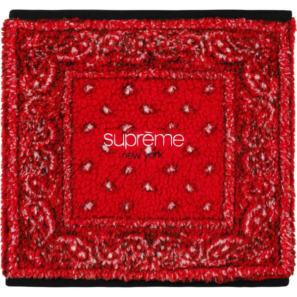 Supreme Bandana Fleece Neck Gaiter (Red)