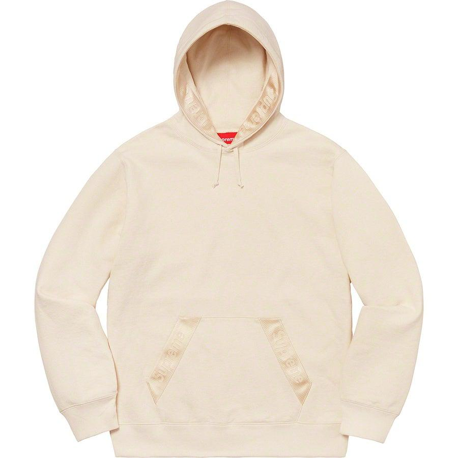 Supreme Tonal Webbing Hooded Sweatshirt (Natural) | Waves Never Die | Supreme | Hoodie