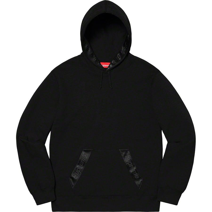 Supreme Tonal Webbing Hooded Sweatshirt (Black) | Waves Never Die | Supreme | Hoodie