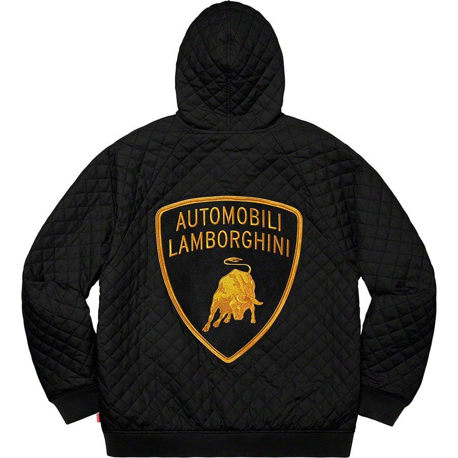 Supreme®/Automobili Lamborghini Hooded Work Jacket (Black) | Waves Never Die | Waves Never Die