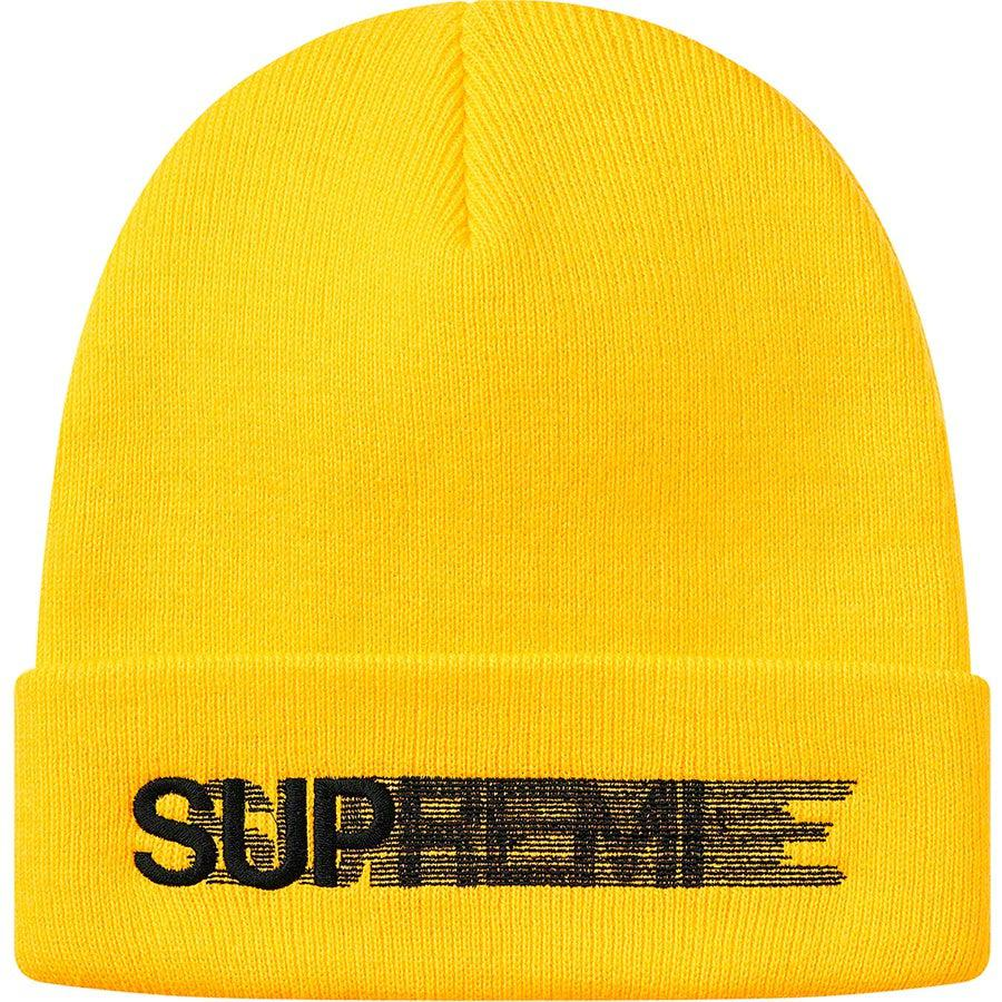 Supreme Motion Logo Beanie (Yellow) | Waves Never Die | Waves Never Die