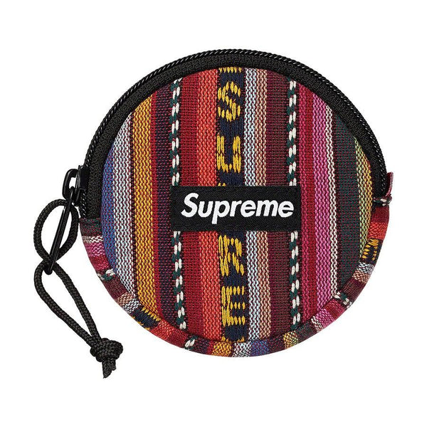 Supreme Woven Stripe Coin Pouch (Multicolour) | Waves Never Die | Waves Never Die