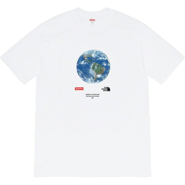 Supreme®/The North Face® One World Tee (White) | Waves Never Die | Supreme | T-Shirt