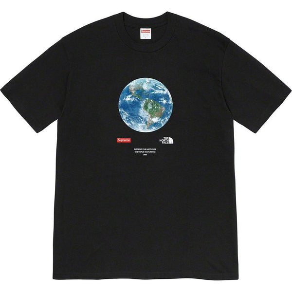 Supreme®/The North Face® One World Tee (Black) | Waves Never Die | Supreme | T-Shirt