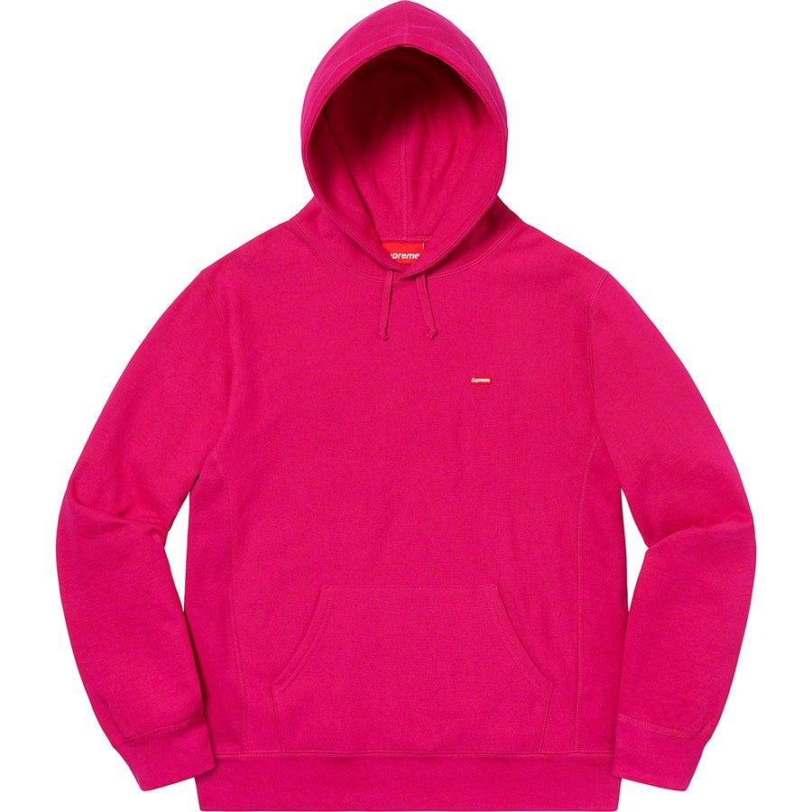 Supreme Small Box Hooded Sweatshirt (Fuschia) | Waves Never Die | Supreme | Hoodie