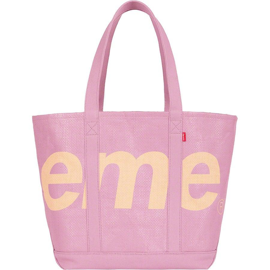 Supreme Raffia Tote (Purple) | Waves Never Die | Supreme | Bag