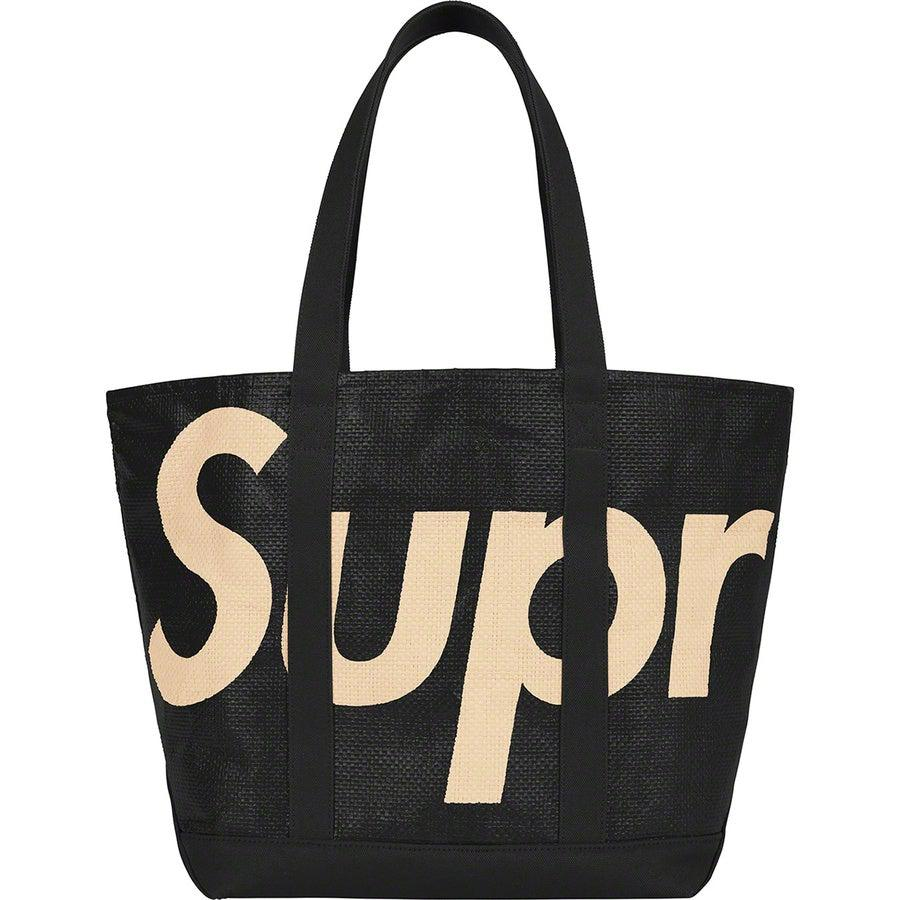 Supreme Raffia Tote (Black) | Waves Never Die | Supreme | Bag