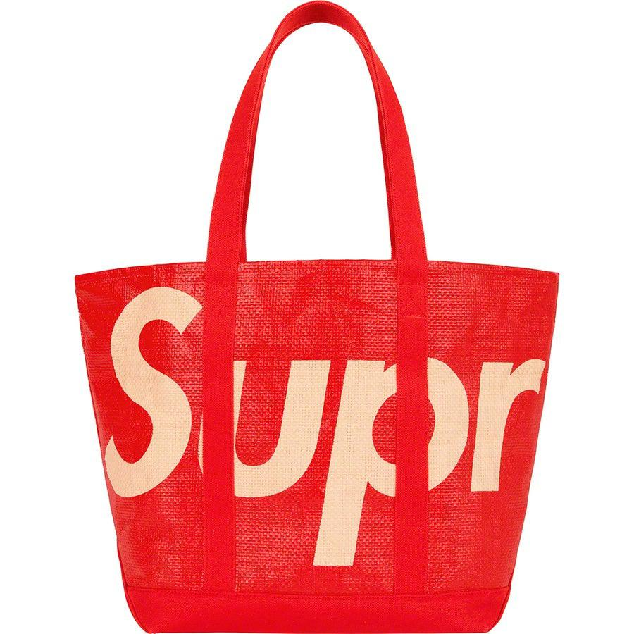 Supreme Raffia Tote (Red) | Waves Never Die | Supreme | Bag