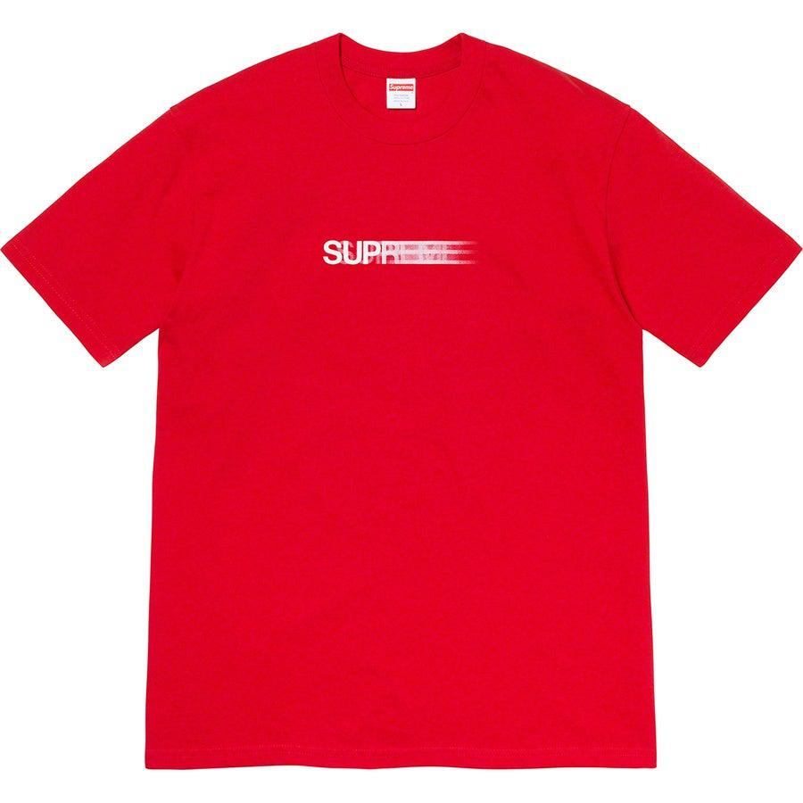 Supreme Motion Tee (Red) | Waves Never Die | Supreme | T-Shirt