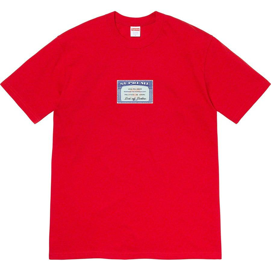 Supreme Social Tee (Red) | Waves Never Die | Supreme | T-Shirt