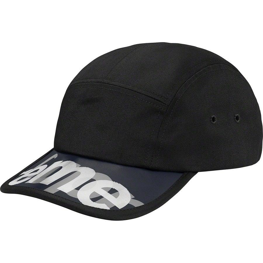 Supreme Lenticular Visor Camp Cap (Black) | Waves Never Die | Supreme | Cap