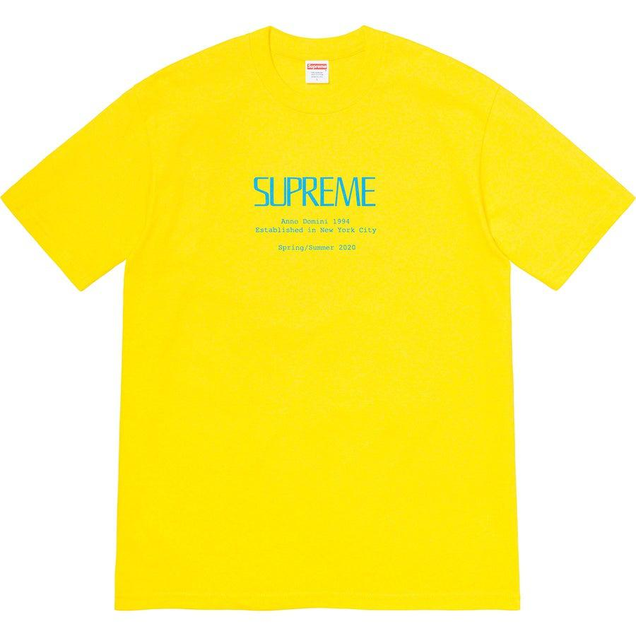 Supreme Anno Domini Tee (Yellow) | Waves Never Die | Supreme | T-Shirt