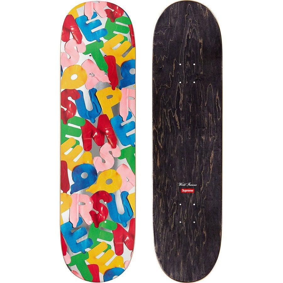 Supreme Balloons Skate Deck (Silver) | Waves Never Die | Supreme | Accessories