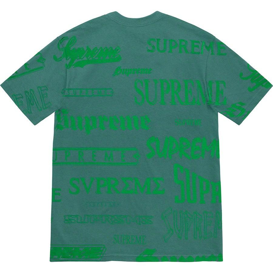 Supreme Multi Logo Tee (Green) | Waves Never Die | Supreme | T-Shirt