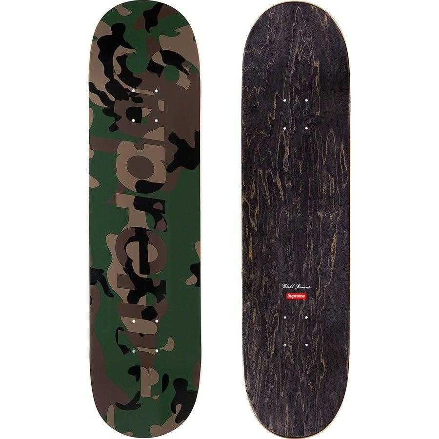 Supreme Camo Logo Skateboard (Green) | Waves Never Die | Supreme | Accessories