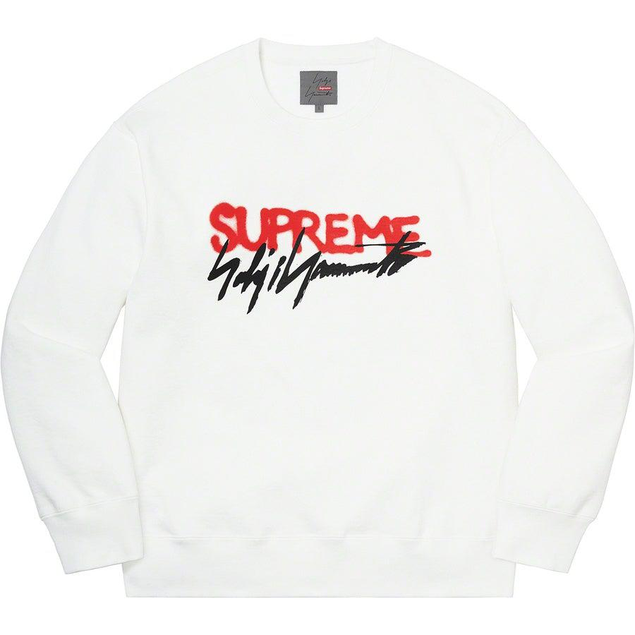 Supreme®/ Yohji Yamamoto® Crewneck (White) | Waves Never Die | Supreme | Crews and Sweaters
