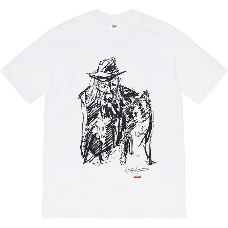 Supreme®/ Yohji Yamamoto®Scribble Portrait Tee (White) | Waves Never Die | Supreme | T-Shirt