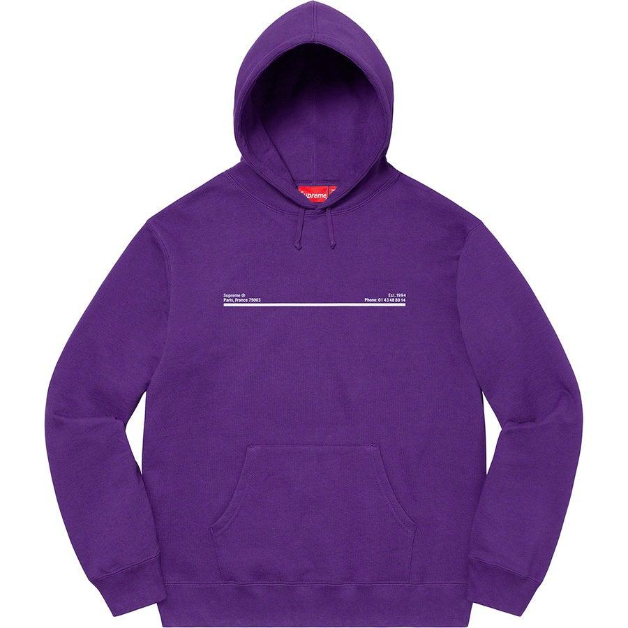 Supreme Paris Shop Hooded Sweatshirt (Purple) | Waves Never Die | Supreme | Hoodie