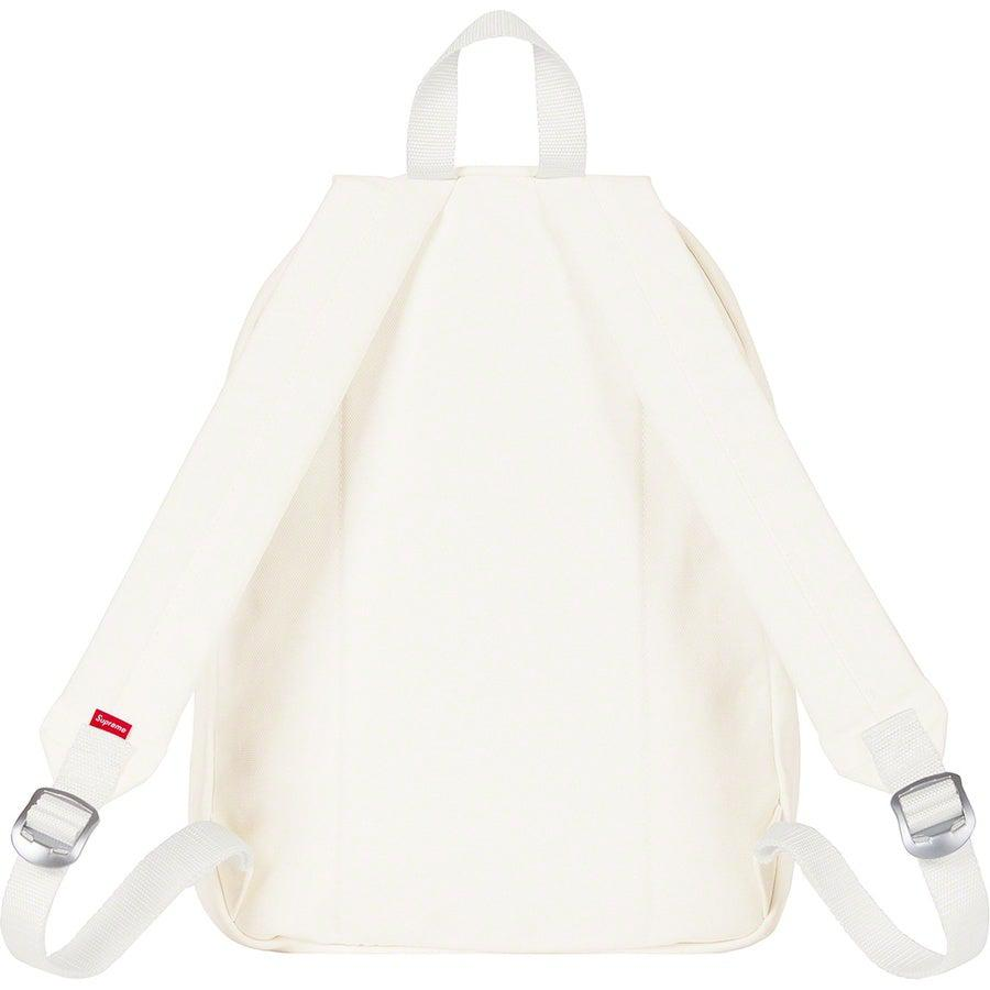 Supreme Canvas Backpack (White) | Waves Never Die | Supreme | Bag